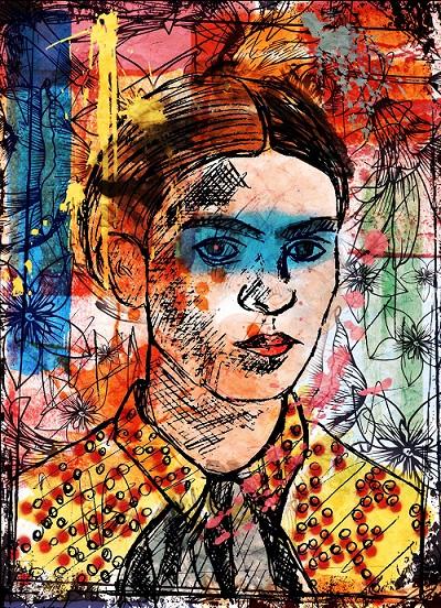 artista-emergente-pittura-contemporanea-arte-accessibile-galleria-online-Tobia-Polese-Frida-Khalo